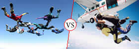 Skydiving vs Tandem Skydiving