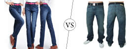 Slim Fit Jeans vs Straight Fit Jeans