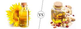 Sunflower Oil vs Groundnut Oil.