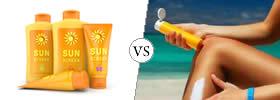 Sunscreen vs Sunblock