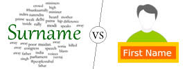 Surname vs First Name