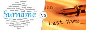Surname vs Last Name