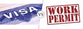 Visa vs Work Permit