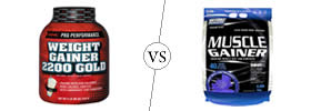 Weight Gainer vs Muscle Gainer