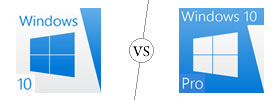 Windows 10 vs Windows 10 Pro