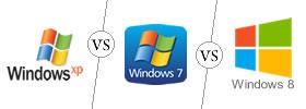 Windows XP vs Windows 7 vs Windows 8