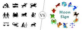 Zodiac Sign vs Moon Sign