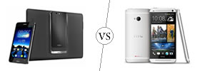 Asus PadFone Infinity vs HTC One