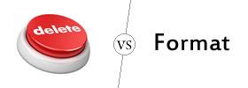 Delete vs Format
