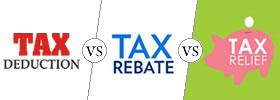 Income Tax Deduction vs Rebate vs Relief