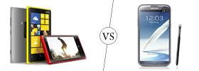 Nokia Lumia 920 vs Galaxy Note II