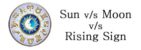 Sun Sign vs Moon Sign vs Rising Sign