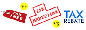 Tax Exemption vs Tax Deduction vs Tax Rebate