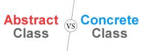 Abstract Class vs Concrete Class
