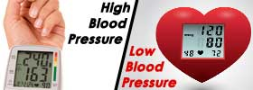 High Blood Pressure vs Low Blood Pressure