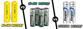 NiCad vs NiMH vs Lithium battery