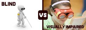 Blind vs Visually Impaired