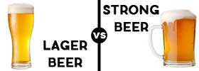 Lager Beer vs Strong Beer