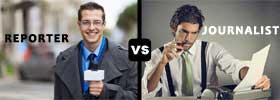 Reporter vs Journalist