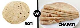 Roti vs Chapati