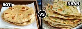 Roti vs Naan