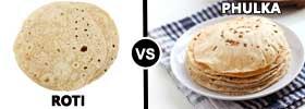 Roti vs Phulka