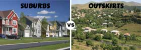 Suburbs vs Outskirts