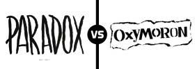 Paradox vs Oxymoron