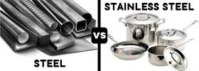 Steel vs Stainless Steel