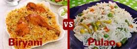 Biryani vs Pulao
