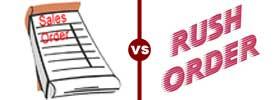 Cash Sales vs Rush Order