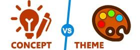 Concept vs Theme