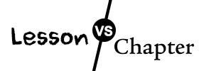 Lesson vs Chapter