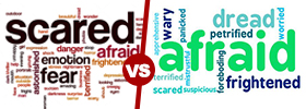 Scared vs Afraid