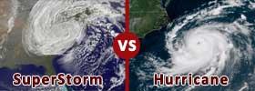 Superstorm vs Hurricane